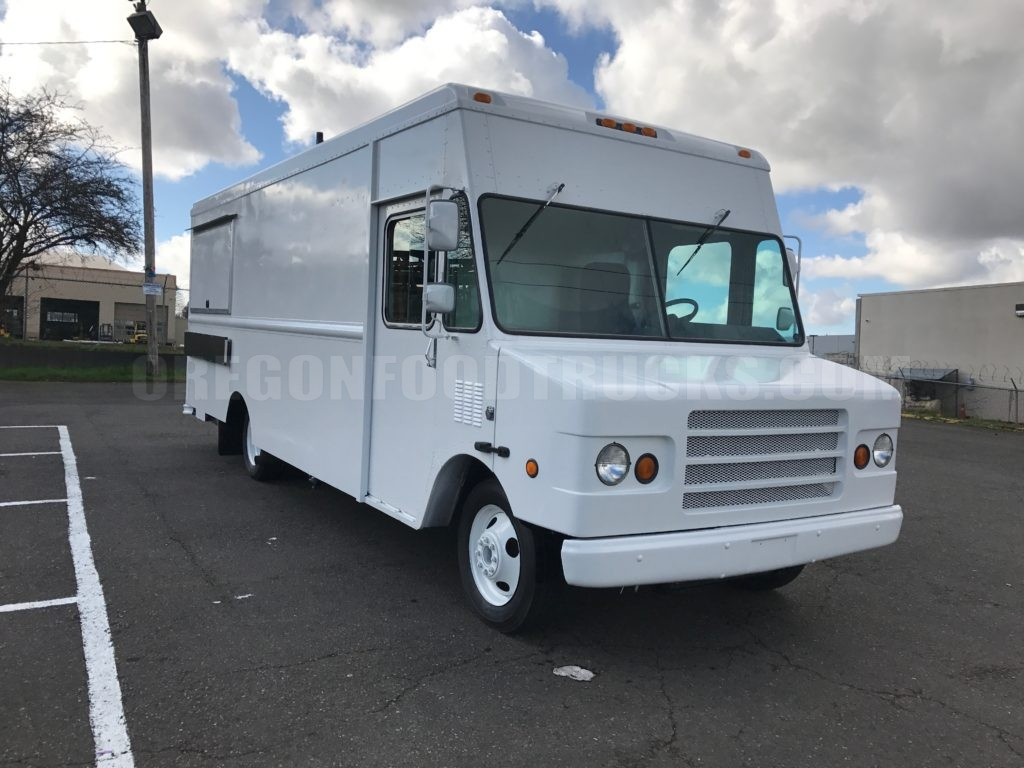 White 2002 Food Truck Stainless Steel Oregon Food Trucks